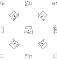 chair and room plant pattern seamless vector image