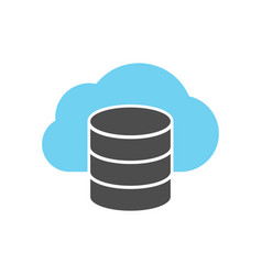 Cloud server icon vector