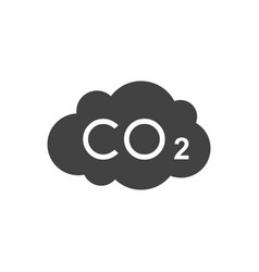 co2 cloud concept image vector image
