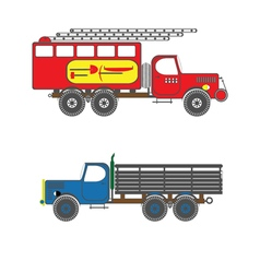 color icon with trucks vector image