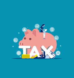 Company analysis tax financial concept business vector