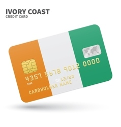 Credit card with ivory coast flag background vector