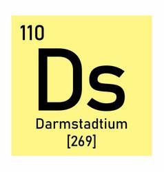 darmstadtium chemical symbol vector image