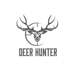 deer hunter design template vector image