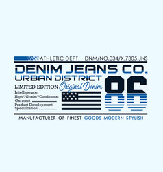Denim sport typography design for t-shirt vector