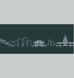 denver single line skyline vector image