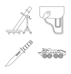 Design weapon and gun sign collection vector