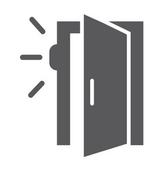 Door sensor glyph icon access and security vector