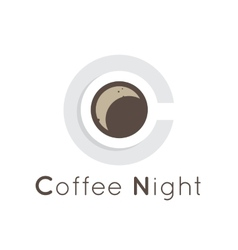 Flat coffee shop cafe or restaurant logo vector