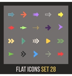 Flat icons set 28 vector