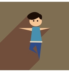 Flat web icon with long shadow male dancer vector
