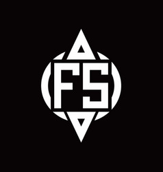 fs logo with circle rounded combine triangle top vector image