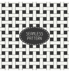 Geometric seamless pattern with intertwined bands vector