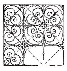 German pattern is a 17th century design vintage vector