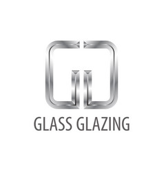 Glass glazing shiny grey initial letter gg logo vector