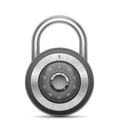Glossy combination lock vector image