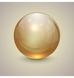 golden transparent globe on light background vector image