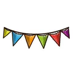grated flag party celebration decoration design vector image