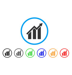 growth chart rounded icon vector image