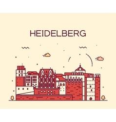 Heidelberg skyline linear vector