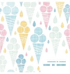 Ice cream cones textile colorful frame corner vector image
