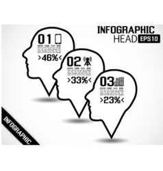 INFOGRAPHIC HEAD STYLE 2 vector image