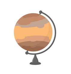 jupiter school globe planet geographical sphere vector image