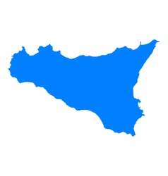 Map of Sicily vector image