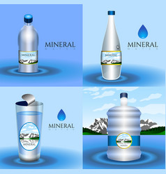 mineral water vector image