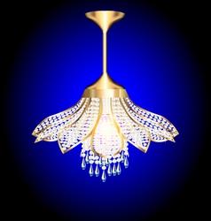 Modern chandelier in the shape of a flower vector
