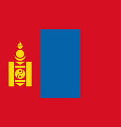 Mongolia flag icon in flat style national sign vector