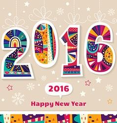New Year 2016 vector