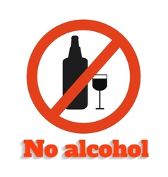 No alcohol vector image
