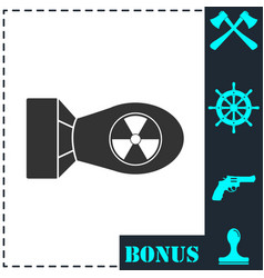 nuclear bomb icon flat vector image
