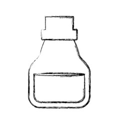 Oil jar object vector