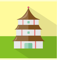 pagoda icon set of great flat icons design vector image