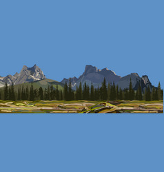 Painted the background a mountain landscape vector
