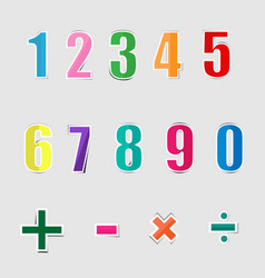 paper graphic alphabet numbers vector image