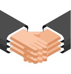 partnership business agreement handshake vector image