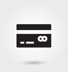 Payment credit debit glyph icon for any purposes vector