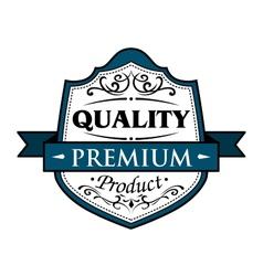 Quality premium product badge vector