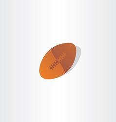 rugball american football icon design vector image