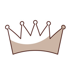 Sahdow crown symbol icon vector