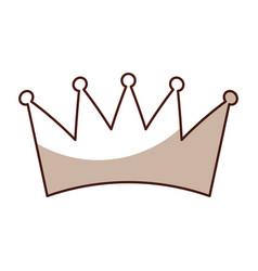 sahdow crown symbol icon vector image