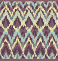 Seamless ikat ethnic pattern vector