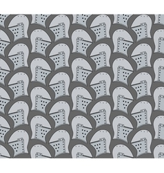 Seamless pattern with medieval helmets vector