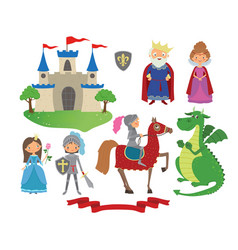 Set fairy tale character vector