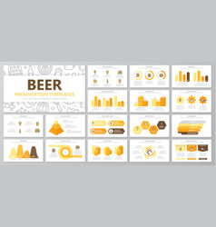 set of beer and bar pub elements for multipurpose vector image vector image