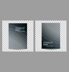 Set of business brochure flyer banner design vector