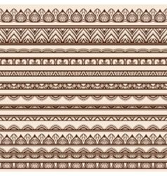 Set of Henna Borders vector image